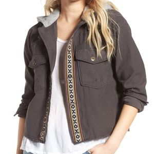 Free People Grunge Boho Wanderer Military Jacket